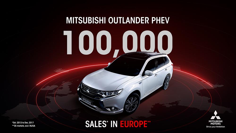 MITSUBISHI OUTLANDER PHEV:  В Европе продано более 100 000 автомобилей!
